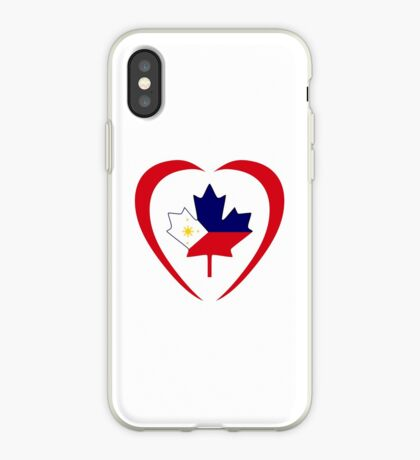 Filipino Canadian Multinational Patriot Flag Series (Heart) iPhone Case