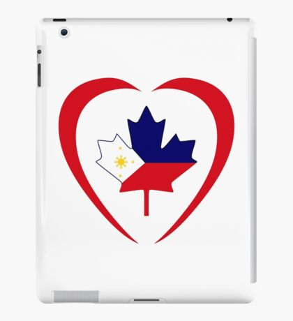 Filipino Canadian Multinational Patriot Flag Series (Heart) iPad Case/Skin