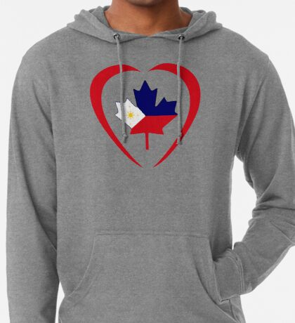 Filipino Canadian Multinational Patriot Flag Series (Heart) Lightweight Hoodie