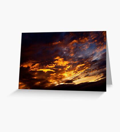 Flaming Sky Greeting Card