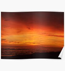 Orange Beach Sunset 5 Poster