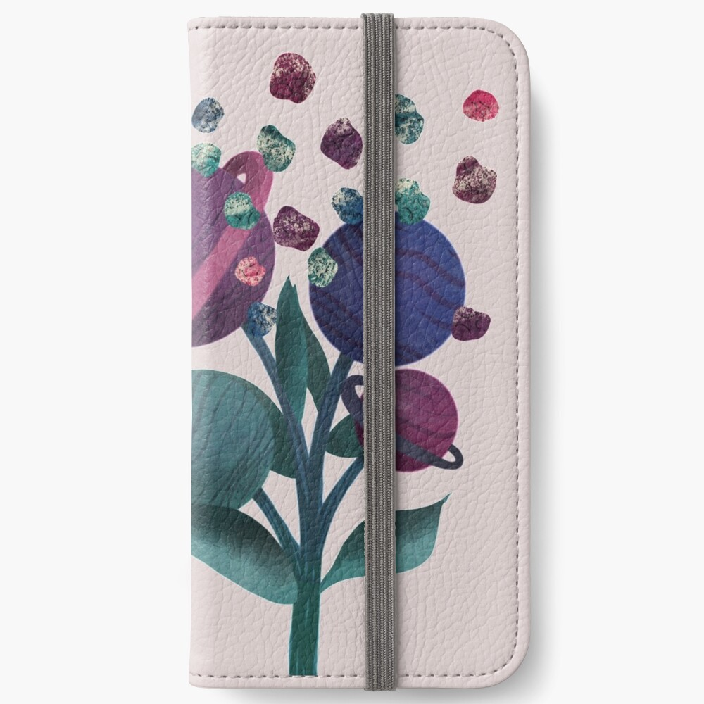 Space Flowers iPhone Wallet