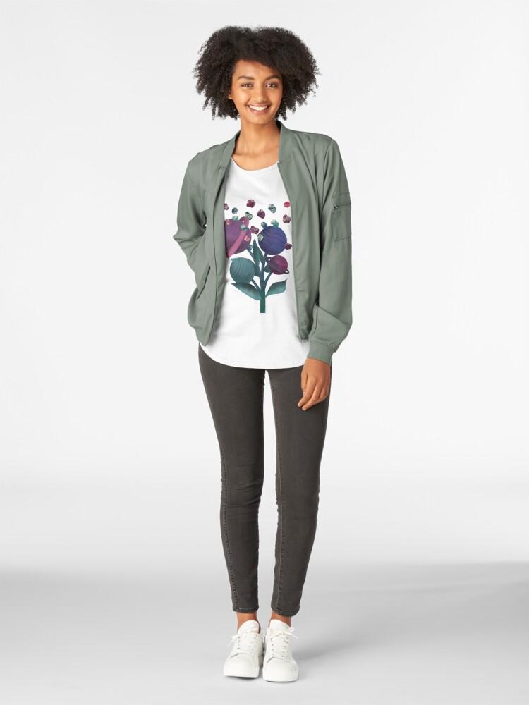 Alternate view of Space Flowers Premium Scoop T-Shirt