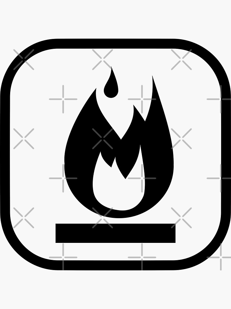 Flammable Symbol by THPStock
