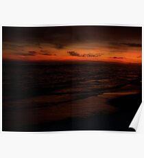 Orange Beach Sunset 7 Poster
