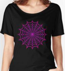 Spinnennetz Pink Baggyfit T-Shirt