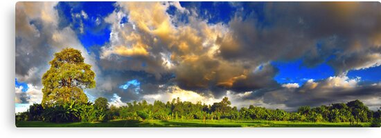 Sky Clouds and The Earth by Komang