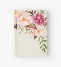 Romantic Watercolor Flower Bouquet Hardcover Journal