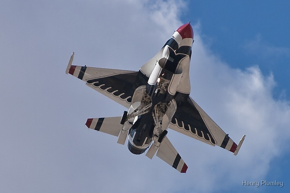 USAF Thunderbird Belly Shot by Henry Plumley