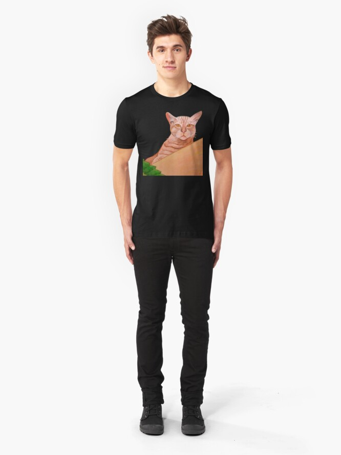 Alternate view of Miami Lewie T-Shirt and Sticker Slim Fit T-Shirt