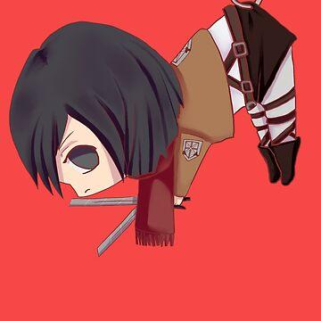 Mikasa in Safety Pin - Shingeki no Kyojin by Akemi-Imouto