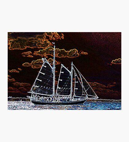 Sailing ship abstract photography Photographic Print