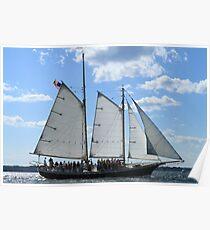 Vintage sailing ship near Newport RI photography Poster