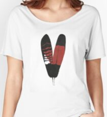 Red-Tailed Black Cockatoo Feathers Women's Relaxed Fit T-Shirt