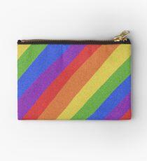 Pride Month - Rainbow and Bright - International World Pride Gift - LGBT - LGBTQ - LGBTQIA Zipper Pouch