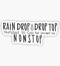 rain drop drop top sticker Sticker