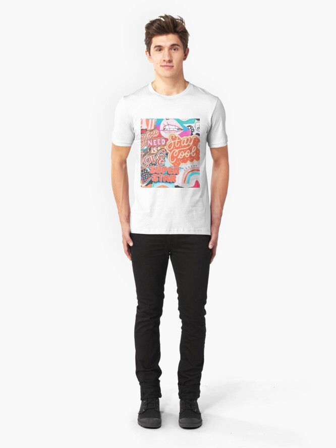 Alternate view of vsco collage Slim Fit T-Shirt