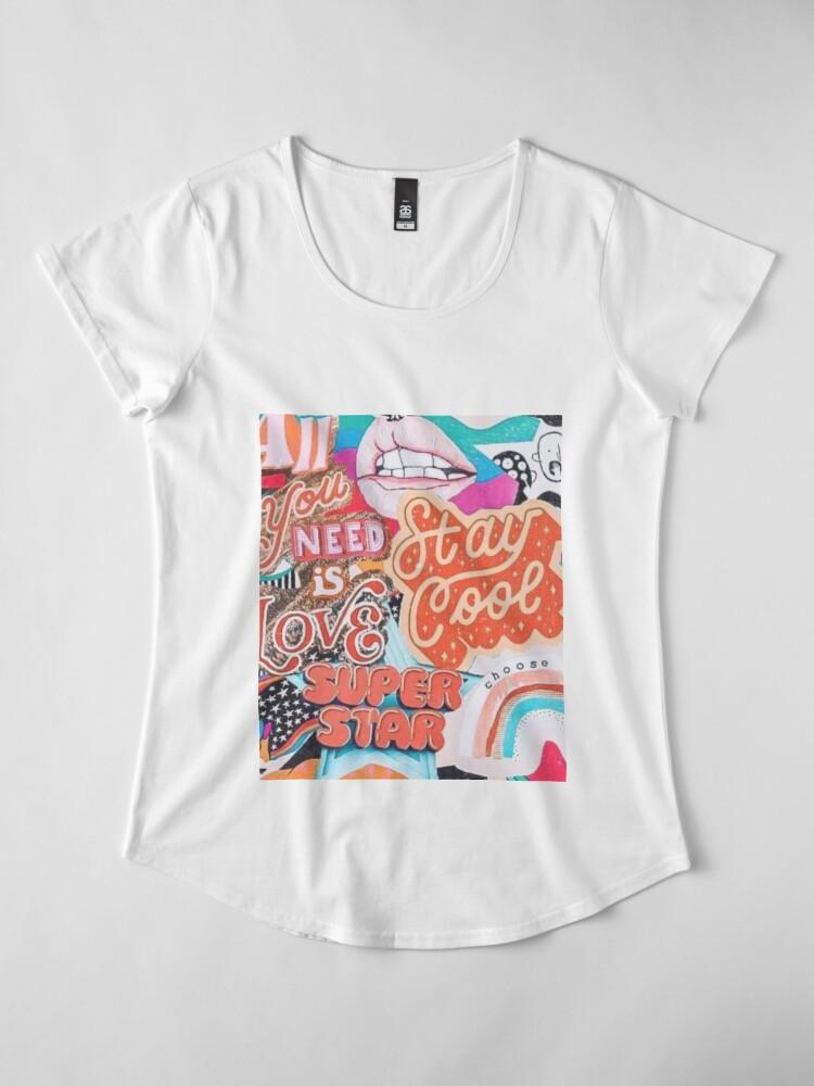 Alternate view of vsco collage Premium Scoop T-Shirt