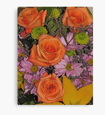 Beautiful Flowers from a Beautiful Friend ll Canvas Print