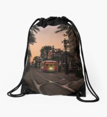 """It's called a street car"" Drawstring Bag"