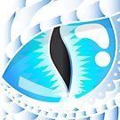 Blue Eyes White Dragon by auradesign