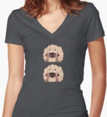 Sleepy Wooloo [C] Fitted V-Neck T-Shirt