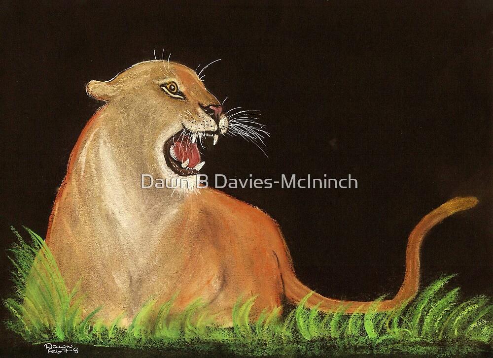 Mountain Lions Rage by Dawn B Davies-McIninch