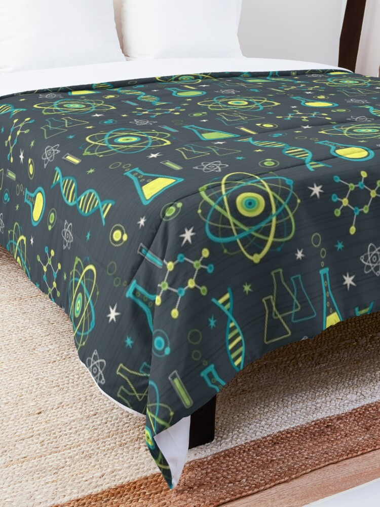 Alternate view of Midcentury Modern Science Comforter