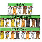 Cats celebrating birthdays on December 29th. by KateTaylor