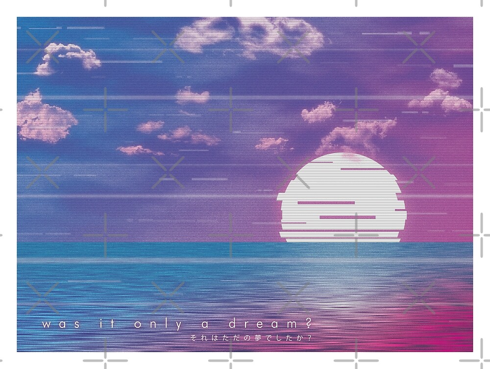 was it only a dream ? - vaporwave-inspired art by Patrick King