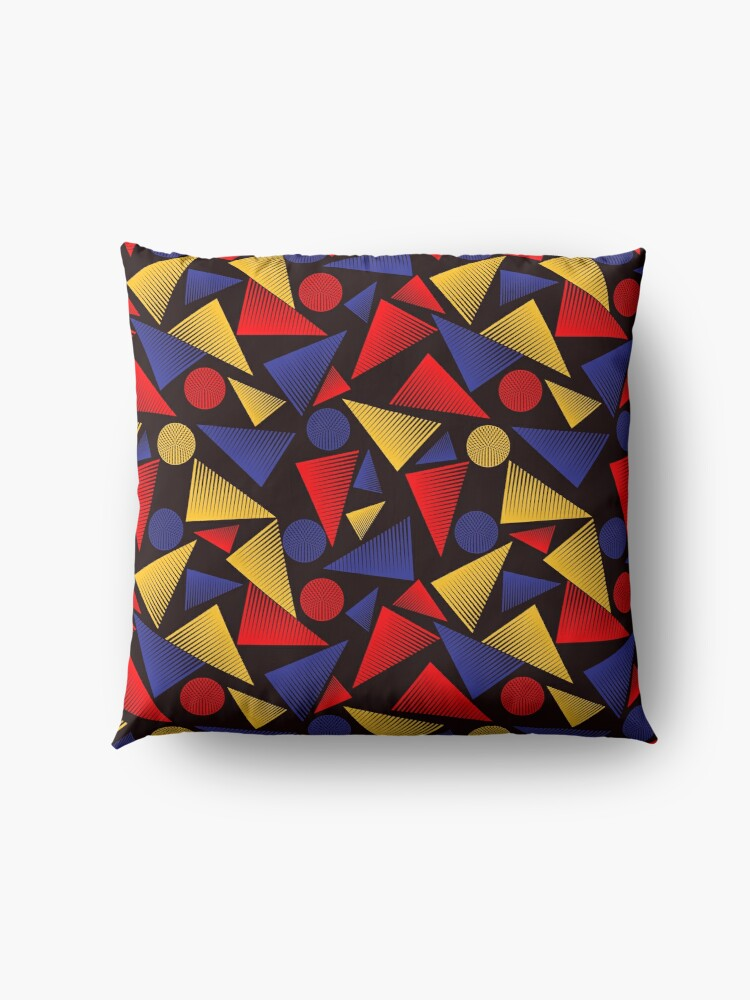 Alternate view of trendy triangle  Floor Pillow
