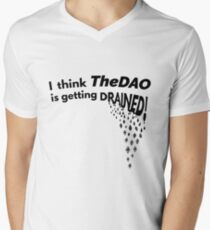 TheDAO is Getting Drained V-Neck T-Shirt