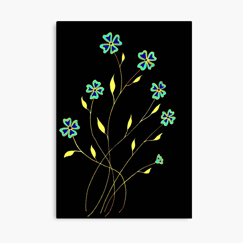 Flower Spray Canvas Print
