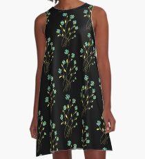 Flower Spray A-Line Dress