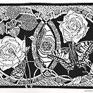 LOVE (black on white) by SapphireRRArt