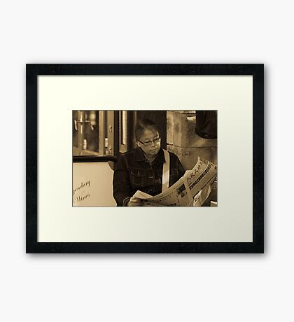 To Read Is Pleasurable Pt 2 Framed Print