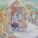 Pretty Sunflower - Billy on the Bog by scallyart
