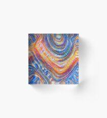 #Deepdreamed planet Acrylic Block