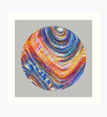 #Deepdreamed planet Art Print