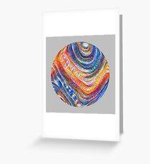#Deepdreamed planet Greeting Card