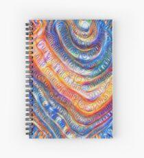 #Deepdreamed planet Spiral Notebook