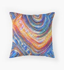 #Deepdreamed planet Throw Pillow