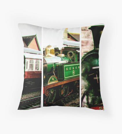 Steam on the Bluebell Line Throw Pillow