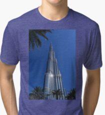 Burj Khalifa Dubai Mall, Dubai Tri-blend T-Shirt
