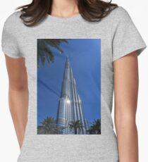 Burj Khalifa Dubai Mall, Dubai Womens Fitted T-Shirt