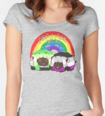 Ace/Aro WLW (WooLooWoo) Pride Fitted Scoop T-Shirt