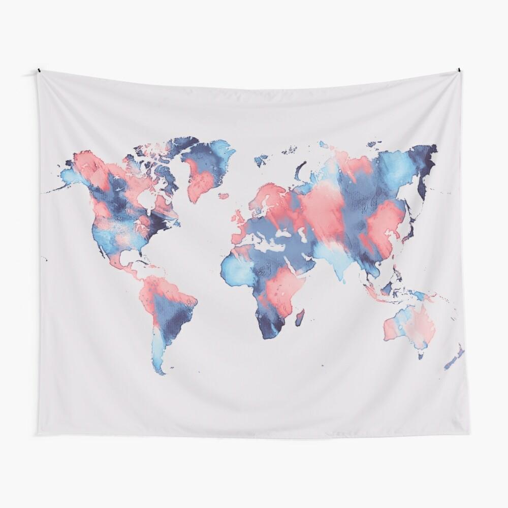 world map 58 #map #worldmap Wall Tapestry