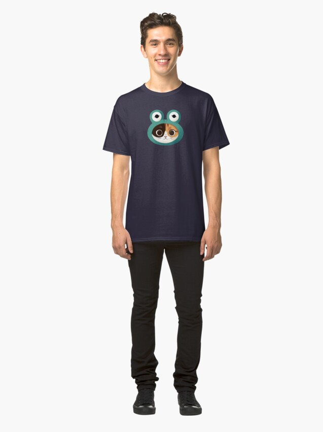 Alternate view of Cat with frog hat Classic T-Shirt