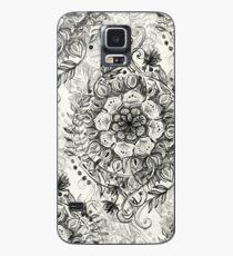 Funda/vinilo para Samsung Galaxy Messy Boho Floral en carbón y crema