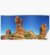 Three Interesting Rock Formations in Moab Poster